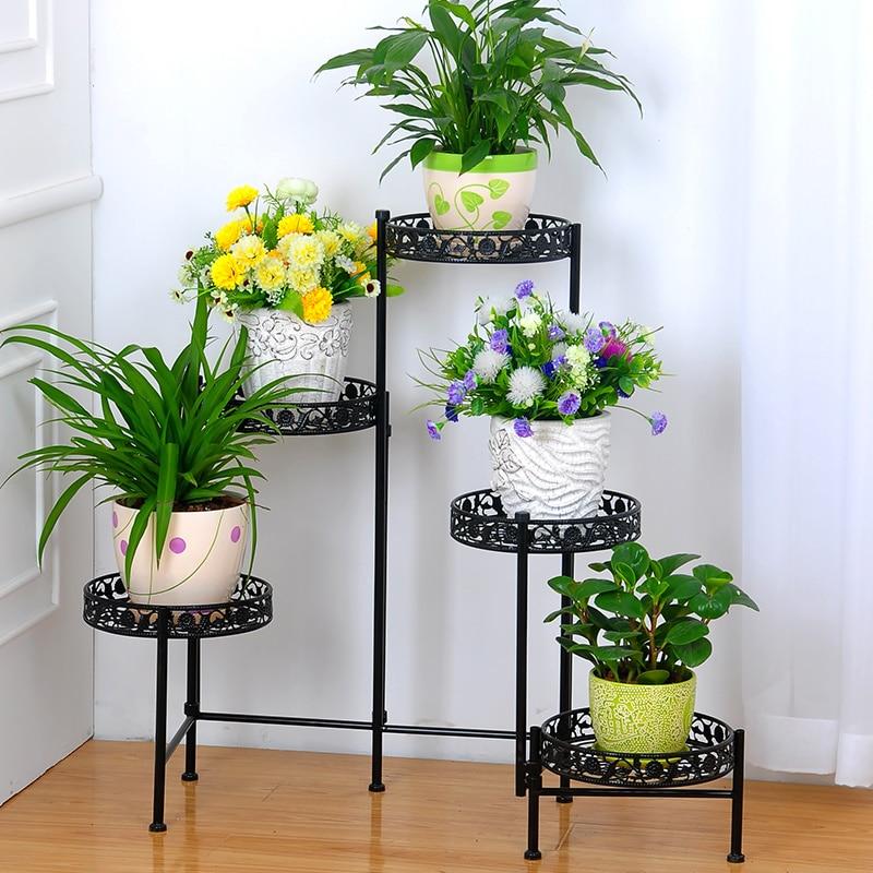 Bunga besi berdiri rak di Rak & Pemegang dari Rumah