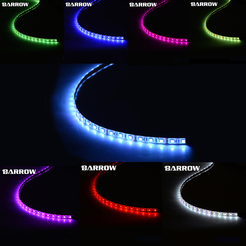 Barrow v1 LDRDT-50/100 12V multiple color lighting strips, chassis built-in , self-adhesive soft , waterproof , Trim the length unmarried motherhood in barrow