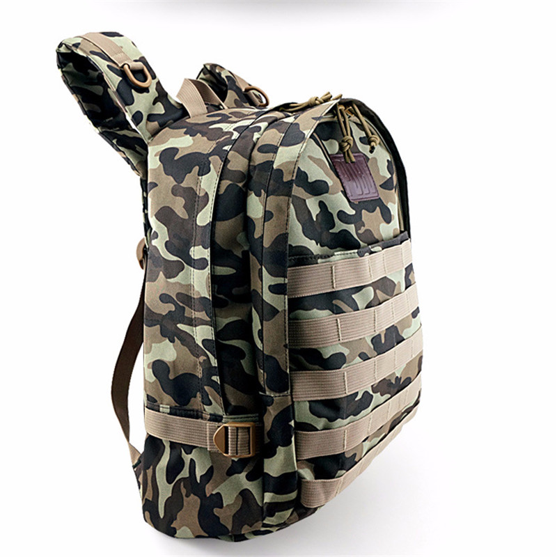 BOOCRE Game PUBG Accessories Cosplay Jedi Level 3 Backpack wash Camouflage Oxford Cloth Backpack