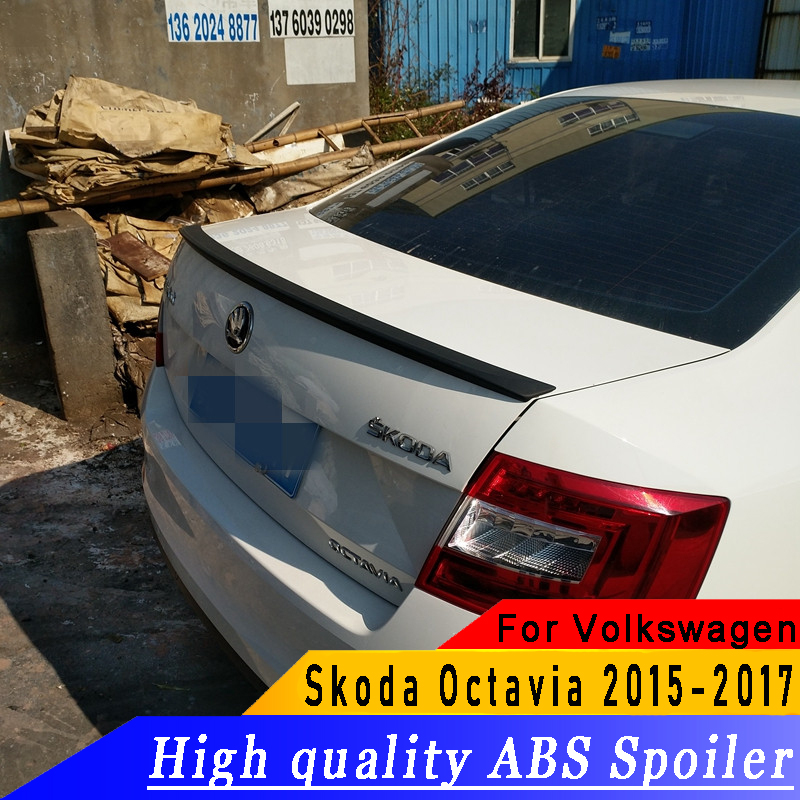 High quality ABS rear wing spoiler primer DIY any color spoiler for Octavia rear spoiler For