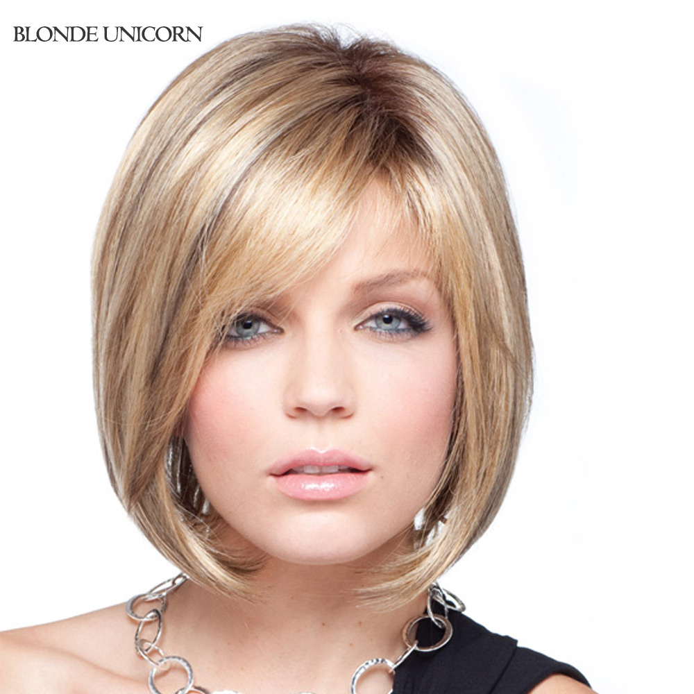 Blonde Unicorn Bob Wigs Human Hair Wigs For Women Blonde