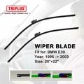 "Wiper Blade Fits for BMW 5 Series E39 (1995-2003) 1 set 26""+22"",Flat Aero Windscreen Wiper Frameless Soft Beam Wiper Blade"
