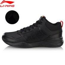 Li-Ning hombres en defensor zapatos de lana caliente portátil forro transpirable comodidad Zapatos de deporte Zapatillas de deporte clásicas de AGCN123 YXB234
