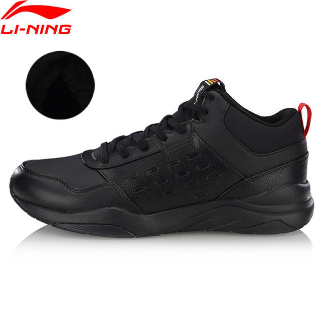 Li-Ning/Мужская теплая флисовая спортивная обувь с подкладкой из дышащего материала, классические кроссовки AGCN123 YXB234