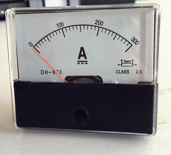 DH-670 DC 0-300A Аналоговая Панель Амперметр со стрелкой тип панель измерителя тока
