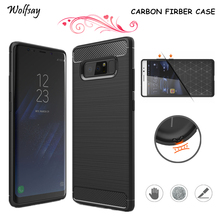 Wolfsay For Cover Samsung Galaxy Note 8 Case Rubber Silicone Phone Cases For Samsung Galaxy Note 8 Cover For Samsung Note 8