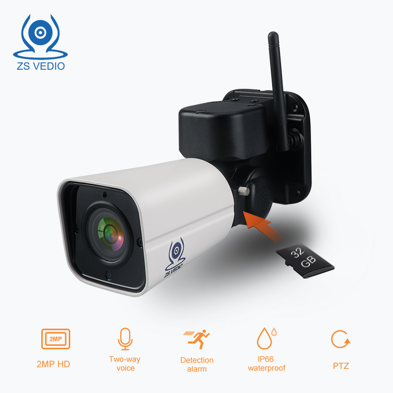 ZSVEDIO Surveillance camera PTZ 2 0MP H 264 WiFi Bullet Outdoor Cloud Storage 4X Optical Zoom