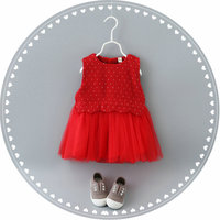 Heat 2016 New Spring Autumn Baby Dress 100 Cotton Gauze Dress Princess Dress Girl Child Brand