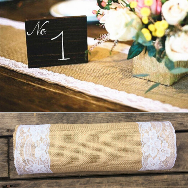 Jute Table Runner Burlap Wedding Table Runner Rustic Wedding Centerpieces Home/Hotel Table Decoration Shabby Chic 30cm*275cm