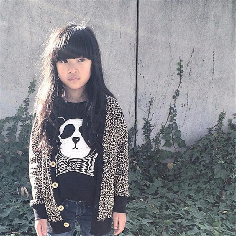 For Boys Girls Sweater T-Shirts Clothes Autumn Winter New Panda Bear Printing Tops Kids Sweatershirt  Tees Clothing Full Sleeve 04