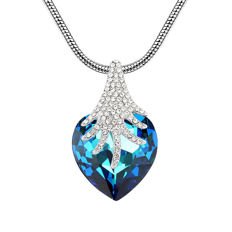 Heart Statement Necklace Austrian Crystal Gifts For