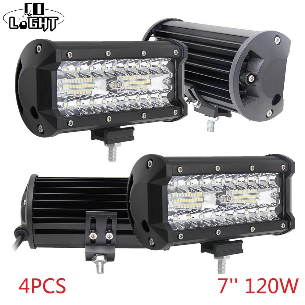 CO с подсветкой бар бездорожью 120 Вт светодиодный свет 12 В пятно света потока для Авто 4X4 Jeep Wrangler Лада Нива трактор 4X4 аксессуары