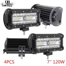 CO LIGHT Led Bar Off Road 120W Work Light 12V Spot Flood Lights for Auto 4X4 Jeep Wrangler Lada Niva Tractor Accessories