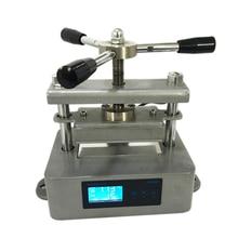 """6x12cm (2.4x4.7 """") torção manual dupla placas de aquecimento pequena máquina da imprensa da resina do agregado familiar CK220 4 com papel 100 folhas à prova de óleo"""