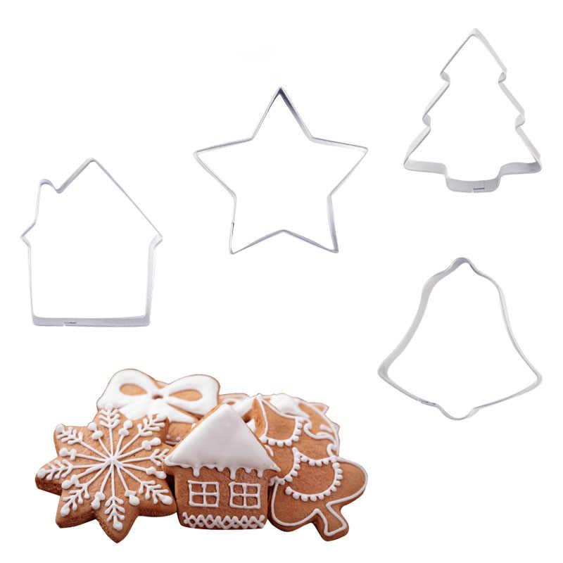 Delidge مختلط نمط الفولاذ المقاوم للصدأ كعكة قاطعة البسكوت عيد الميلاد البسكويت فندان لتقوم بها بنفسك أدوات الخبز أدوات تزيين الكعك