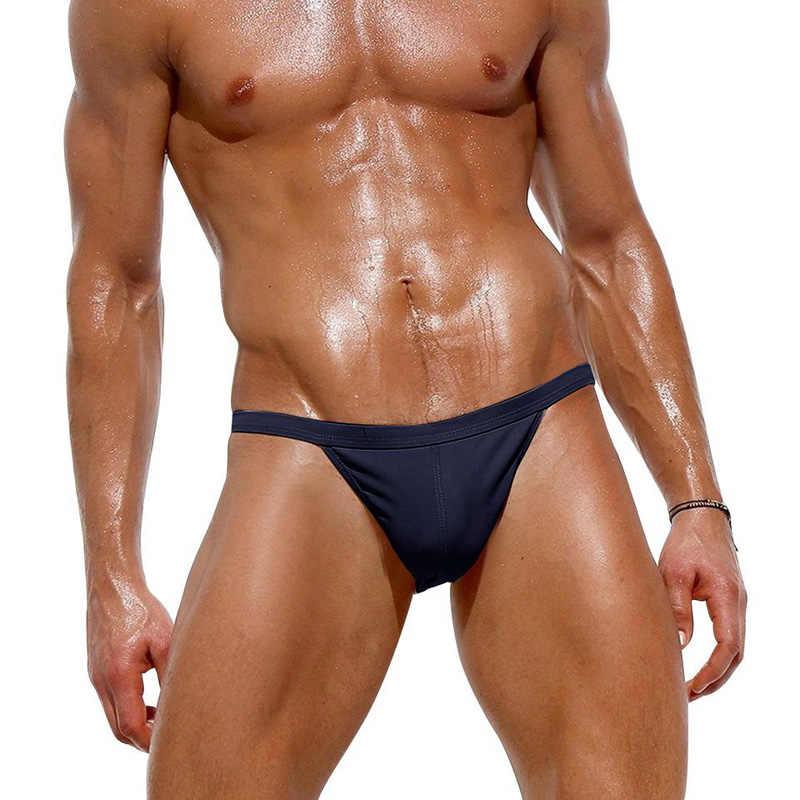 Men/'s Sportswear Nylon Low Rise Pouch Swim Briefs Swimwear Maillot De SZIE S-XL