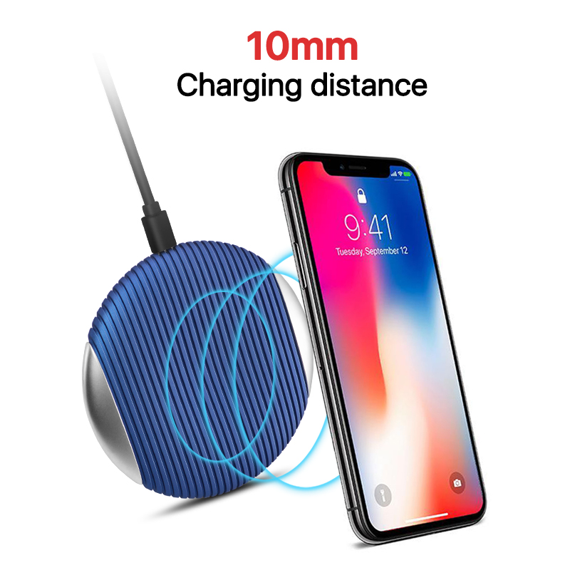 Qi Wireless Charger For Samsung S10 5G S8 S9 Note 9 10W Fast Charging pad for iphone XS MAX XR 8 xiaomi huawei P30 phone charger in Wireless Chargers from Cellphones Telecommunications