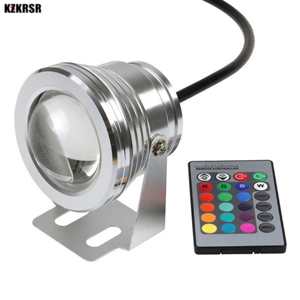 Led Underwater Spot Lights Lamp For Fountain Pond Garden Pool Landscape Ac/dc 12v 10w White/warm White/rgb Swimming Pool Lights Without Return Led Underwater Lights Lights & Lighting