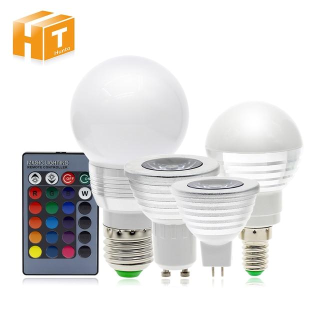 RGB LED Lamp led Spot E27/E14/GU5.3/GU10 Afstandsbediening Kleur ...
