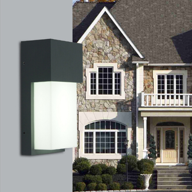 10W LED Outdoor Lamp Wall Sconce Light Fixture Waterproof Building ...