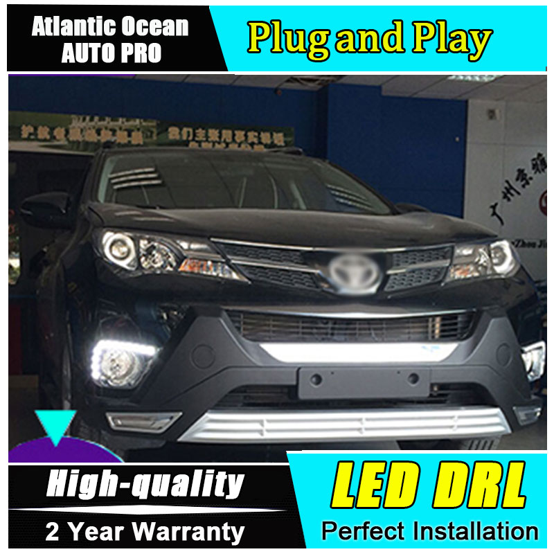 JGRT for Car Styling Toyota RAV4 LED DRL parking For Toyota RAV4 led fog lamps daytime running lights driving cover light jgrt 2011 for nissan sentra fog lights led drl turnsignal lights car styling led daytime running lights led fog lamps