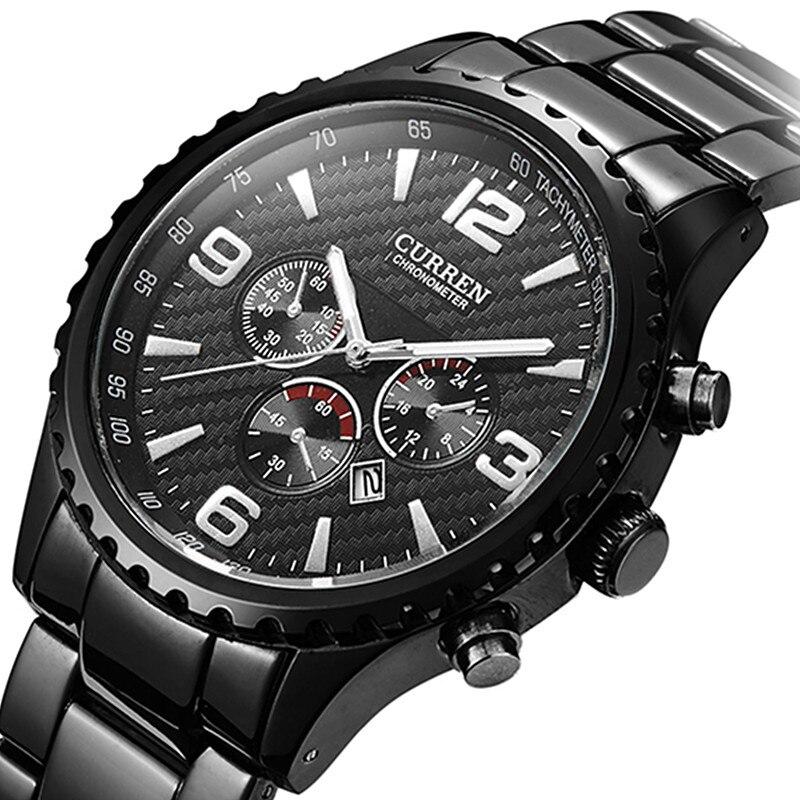 Prix pour Montres hommes Sports marque Curren montres Relogio Masculino mode Reloj Hombre Quartz - Montre hommes montres horloge Montre Homme