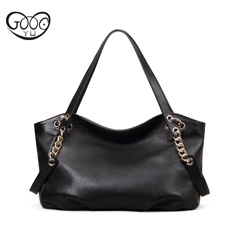 Europe and the United States style high-quality lychee furrows cowhide handbag horizontal square solid color large-capacity shou fashion europe style high quality brass
