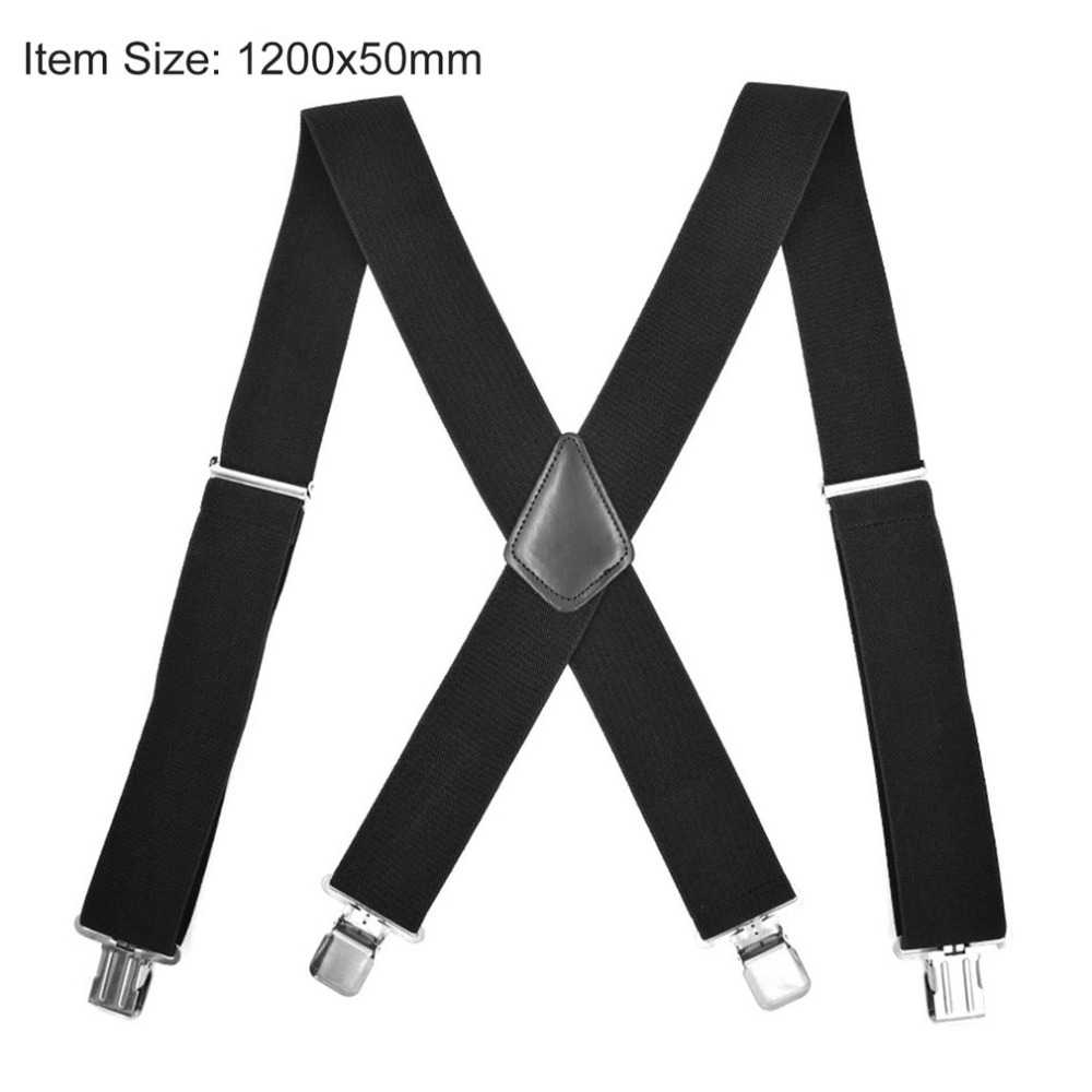 1 Width Kinder Hosentrager Elastisch Kids Suspenders 4 Strong Clips Straps Y-form Slinger Length Adjustable Giarrettiere Belt Men's Suspenders
