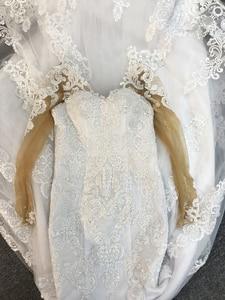 Image 2 - Long sleeves lace mermaid wedding dresses 2019