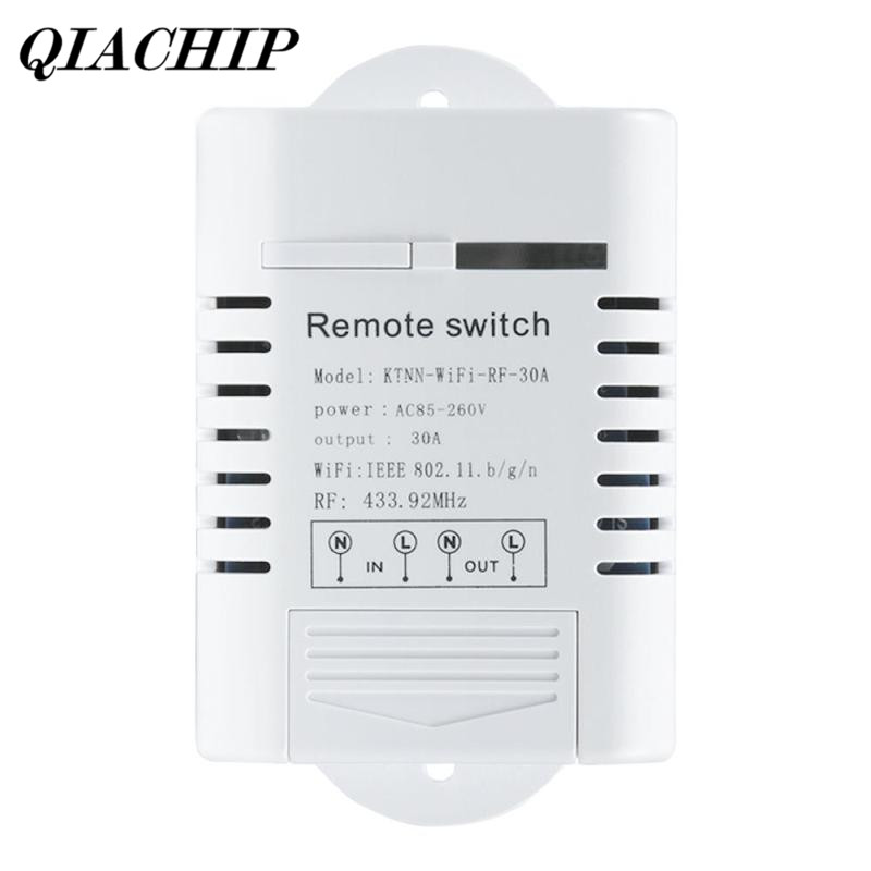 qiachip wifi smart switch work with amazon alexa google home timing function 433mhz water pump. Black Bedroom Furniture Sets. Home Design Ideas