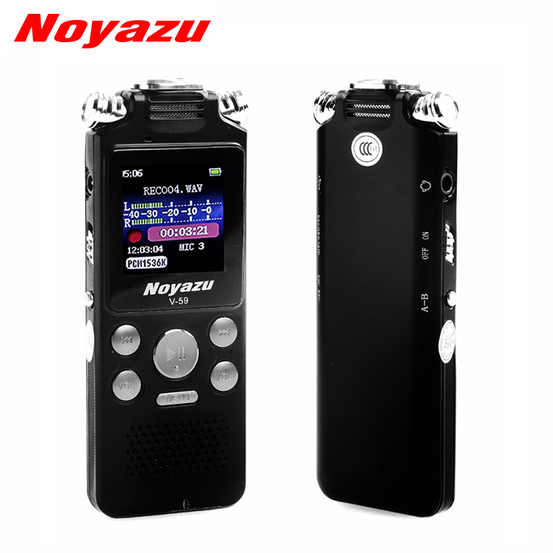 Noyazu Fast Charging 8GB Two-way Microphone Sound Recording Digital Audio Voice Recorder Noise Reduction Professional Mp3 Player