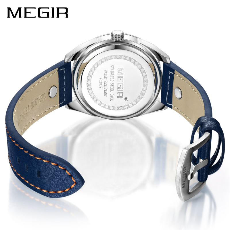 Megir luxe merk heren quartz horloges heren leger militaire - Herenhorloges - Foto 3