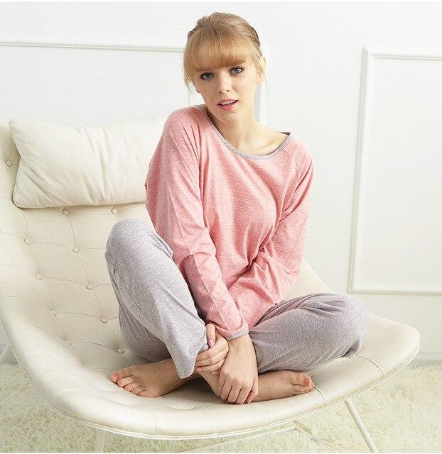 2016 весной бесплатная доставка хлопка девушки пижамы мода мягкий хлопок пижамы женщин пижамы комплект для девочек дома ночной рубашке устанавливает