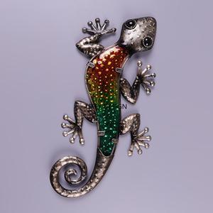 Image 4 - Decorazione del giardino Allaperto Animali di Metallo Gecko Opere Darte Della Parete Scultura per il Soggiorno e Decorazione del Giardino Esterno Statue