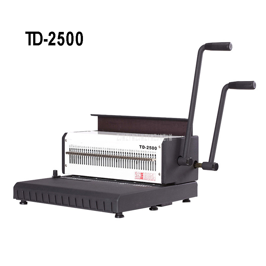 TD 2500 2 Handle Manual Spiral Double Wire Binding Machine