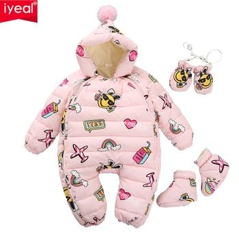 98f5de94d IYEAL EST Warm Overalls Winter Children s Baby Duck Down Rompers ...