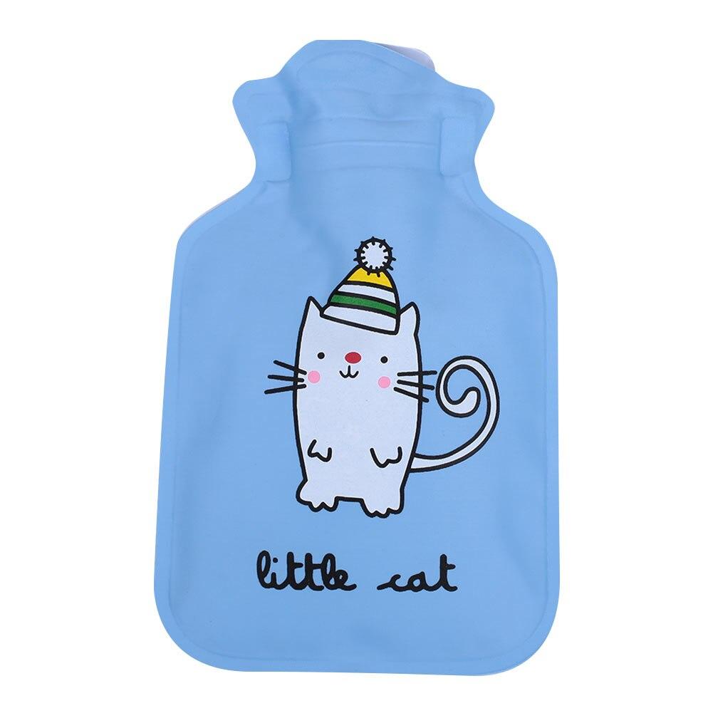 Грелка для рук теплая водонепроницаемая сумка для горячей воды горячий Подарочный пакет Прочный ПВХ+ EVA прочный - Цвет: Cat