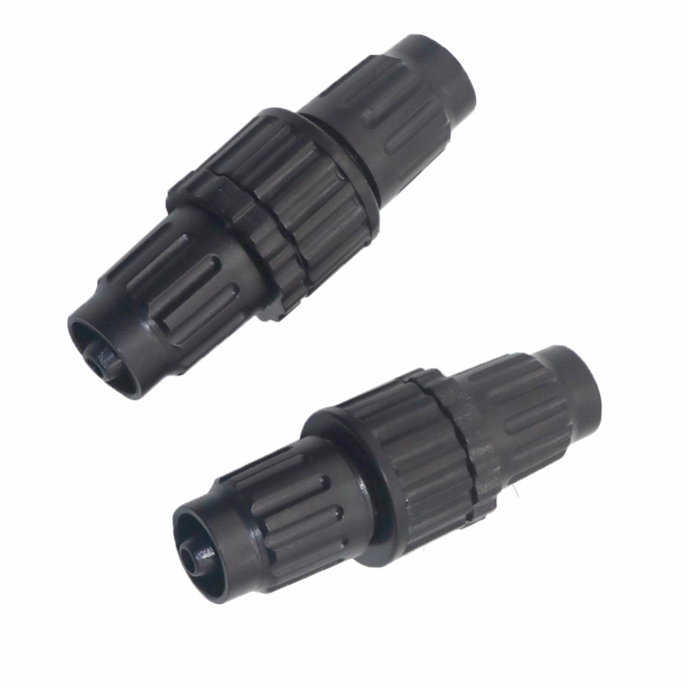 2 Pcs Gray PVC 20mm Inner Dia Pipe Connector Fittings 34mm x 28mm