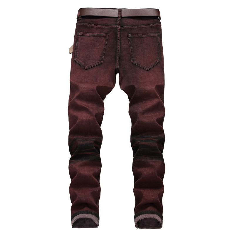 Affligé 42 Jeans Stretch Vintage Photo Droites Hommes Mince Streetwear Déchiré Taille Denim Hop Hip Pantalon Qmgood Plus Color 6FpzSqZW