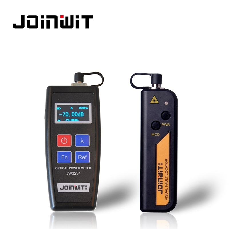 JoinWit JW3234C Mini OPM Optical Power Meter -50~+26dBm And JW3105N VFL Laser Fibre Optique Tester 1MW Visual Fault Locator