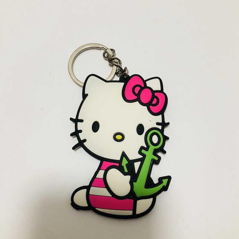 Chegada nova Olá Kitty PVC Peças & Acessórios pingente ornamento decoração unisex saco cadeia anel chave chaveiro cadeia
