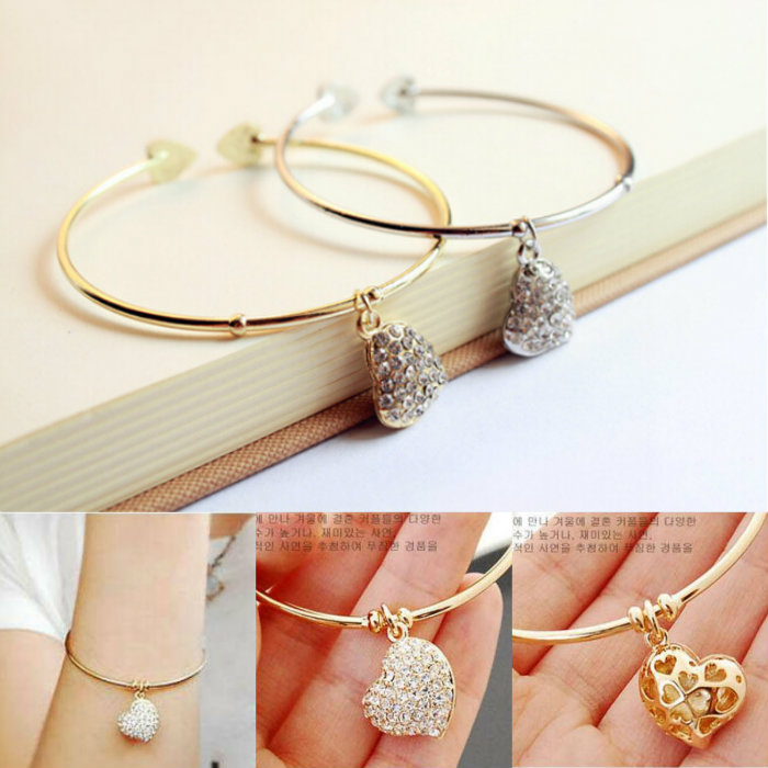 Hot Sale Fashion Women font b Gold b font Color Silver Color Simple Hollow Out Carving