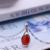 DOUBLE-R Oval Colares & Pingentes Mulheres Ágata Vermelha 925 Pingentes de Prata Sterling Fine Jewelry Real Caixa de Presente Personalizado CASP00181A