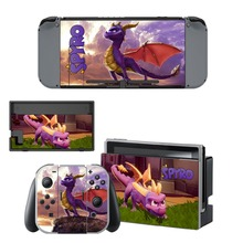 Anime Spyro Skin Sticker For Nintendo Switch NS Console Joy-Con Controller Nintendos Switch Game Vinyl Decals Cover Protector