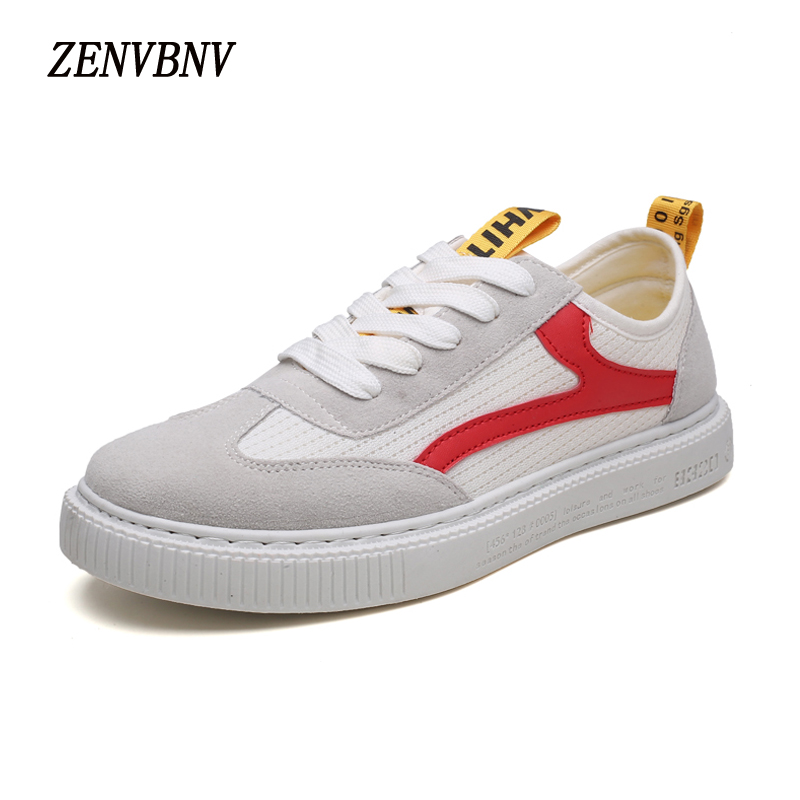 ZENVBNV Fashion Breathable Mesh Shoes Vyrai Retro Lace-Up Paltformas - Vyriški batai