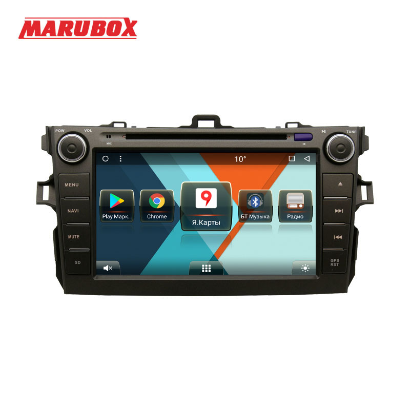 MARUBOX 8A105MT8 Car Multimedia Player for Toyota corolla 2007 2011 8 Core Android 8 1 DVD