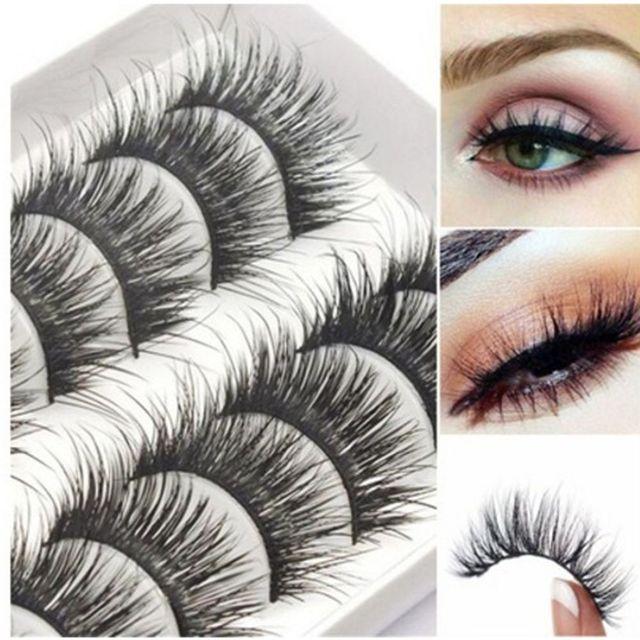 ada34c929d9 BestP Natural False Eyelashes With 10 Pairs Mink Lashes Thick Long Eyelashes  Makeup Fake Eyelashes Black