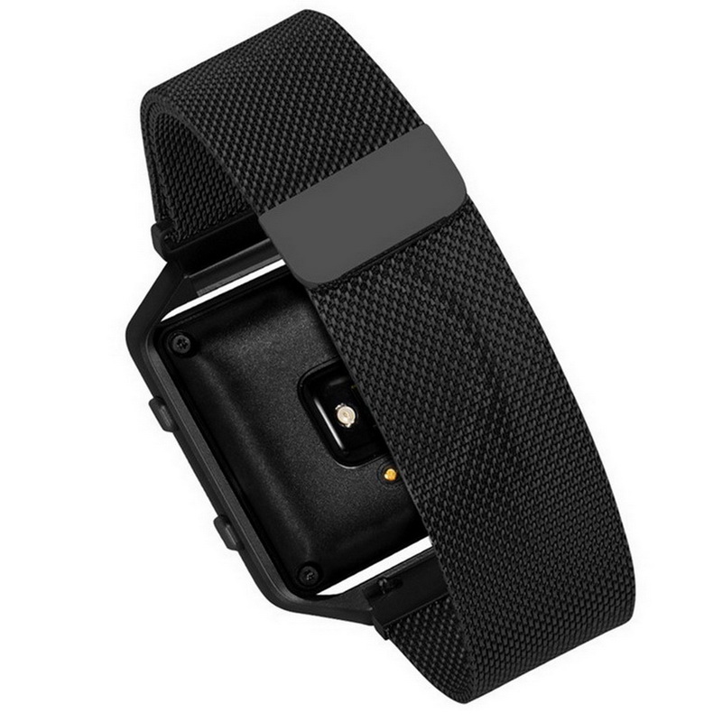 New Stainless Steel Link Bracelet Strap Watch Band Milanese Loop magnetic Without Connector Adapter For Fitbit Blaze crested stainless steel watch band for fitbit charge 2 bracelet smart watch strap for fitbit charge2 with connector