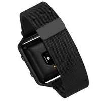 New Stainless Steel Link Bracelet Strap Watch Band Milanese Loop Magnetic Without Connector Adapter For Fitbit