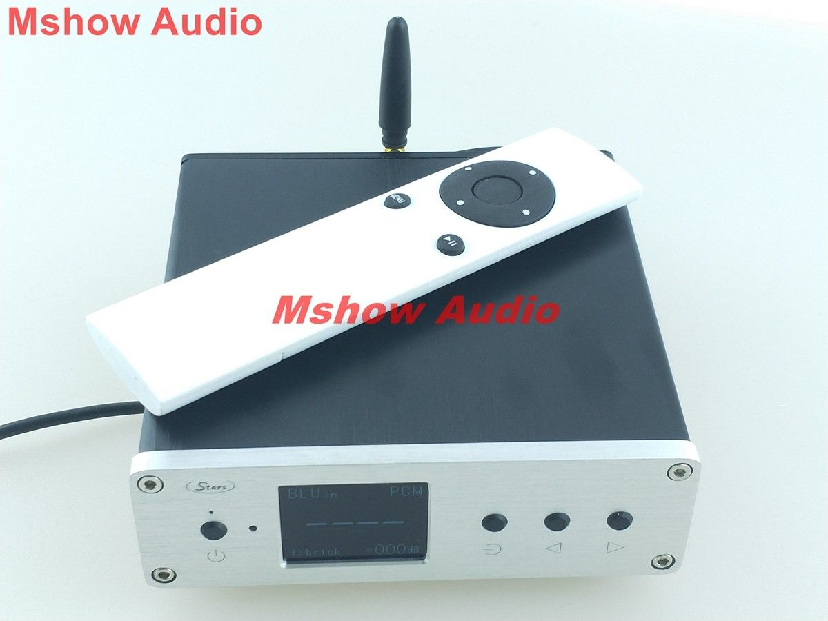 Ustars Dual ES9038Q2M DAC Audio decoder XU208 XMOS USB I2S support DSD 256 TFT display +Bluetooth nobsound dual ak4495 usb dac audio decoder dsd xmos xu208 digital to analog converter